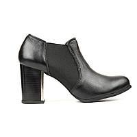Туфли на широком каблуке черный (О-668), фото 1