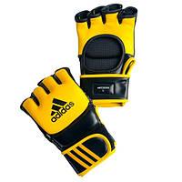 Перчатки для ММА Adidas Leather Yellow (ADICSG041)