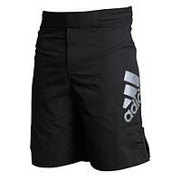 Шорты ММА Adidas Black/Silver (mma-shorts-3)