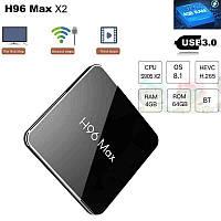 H96 MAX DDR4 4/64Гб S905X2 Android 8.1. Смарт ТВ приставка. Оригинал. Настроен. В наличии.