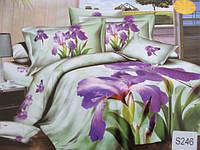 Сатиновое постельное белье евро  3Д ELWAY  S246