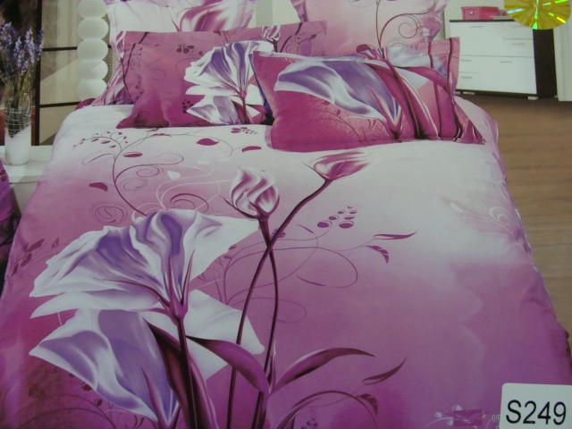 Сатиновое постельное белье евро  3Д ELWAY  S249