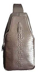 Мужская сумка Baellery Alligator Коричневая (ВА21544)