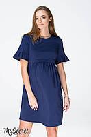 Платье-футболка для беременных и кормящих мам EMILY DR-19.061, темно-синее, фото 1