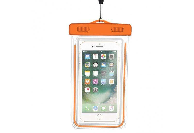 Чехол Grand водонепроницаемый для iPhone X Orange (AL1349)