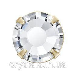 Стразы в цапах Preciosa (Чехия) ss10 Crystal/золото