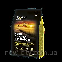 Profine Adult Chicken &Potatoes 3kg ( средних пород)
