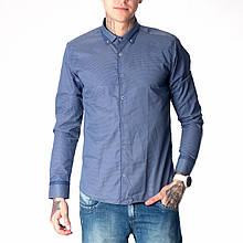 Мужская рубашка с длинным рукавом Gelix 1281002 синяя