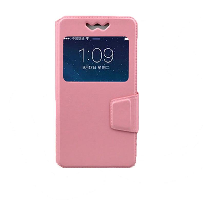 Чехол TOTO Book silicone slide Universal 4.3-4.8 Pink (CaseNS663)