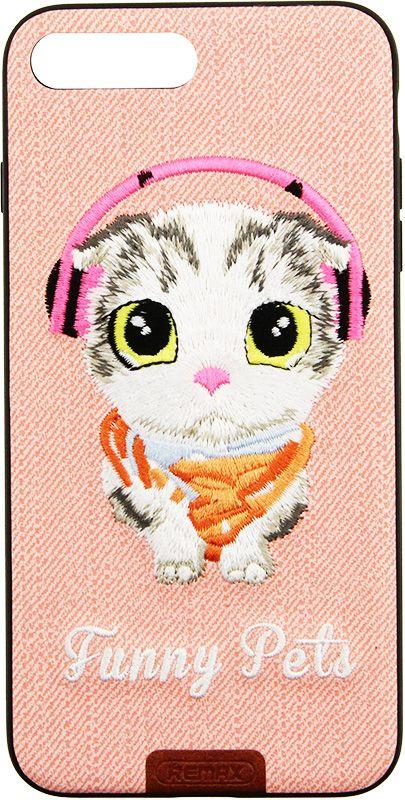 Чехол Remax Funny Pets Series для Apple iPhone 7 Plus Pink (CaseNS213)