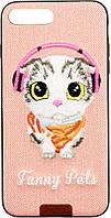 Чехол Remax Funny Pets Series для Apple iPhone 7 Plus Pink (CaseNS213), фото 1