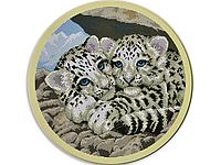 Набор для вышивки картины Тигрята 44х44см