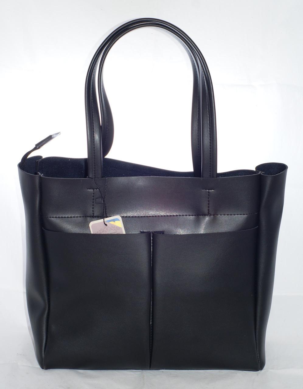 ab69a3107a41 Большая женская сумка-шоппер B.Elit, черная, цена 499 грн., купить в ...