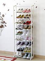 Подставка этажерка для обуви на 10 полок 1400x250x500 мм полочка