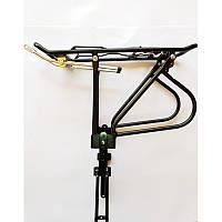 """Велосипедный багажник под дисковые тормоза, алюминиевый,""""крестик"""", 24""""-29"""",черный цвет"""