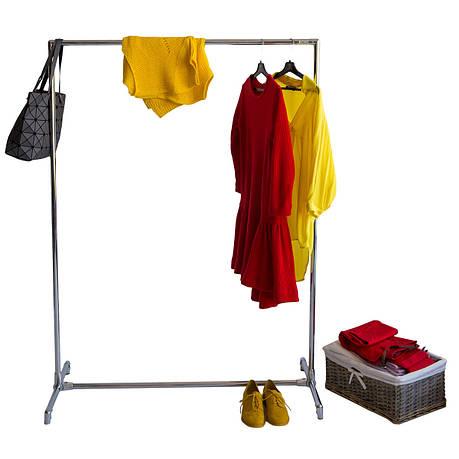Стойка для одежды Бюс 1 (металл хром), фото 2