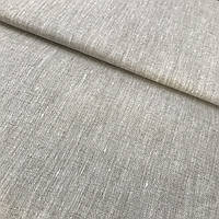 Лён меланж бежевый, сорочечный, ширина 150 см, фото 1