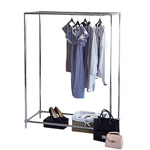 Стойка для одежды Бюс 2 (хромированный металл), фото 2