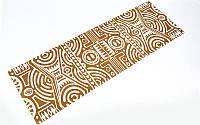 Коврик для йоги Замшевый каучуковый двухслойный 3мм Record FI-5662-40