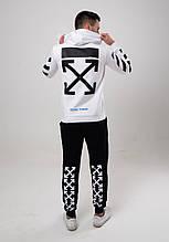 Мужской черно-белый спортивный костюм двойка Of White 2