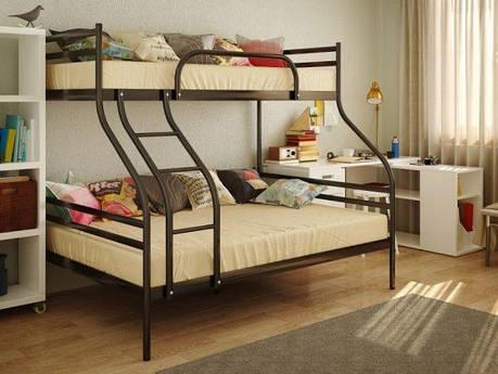 Двухъярусная металлическая кровать СМАРТ (SMART), фото 2
