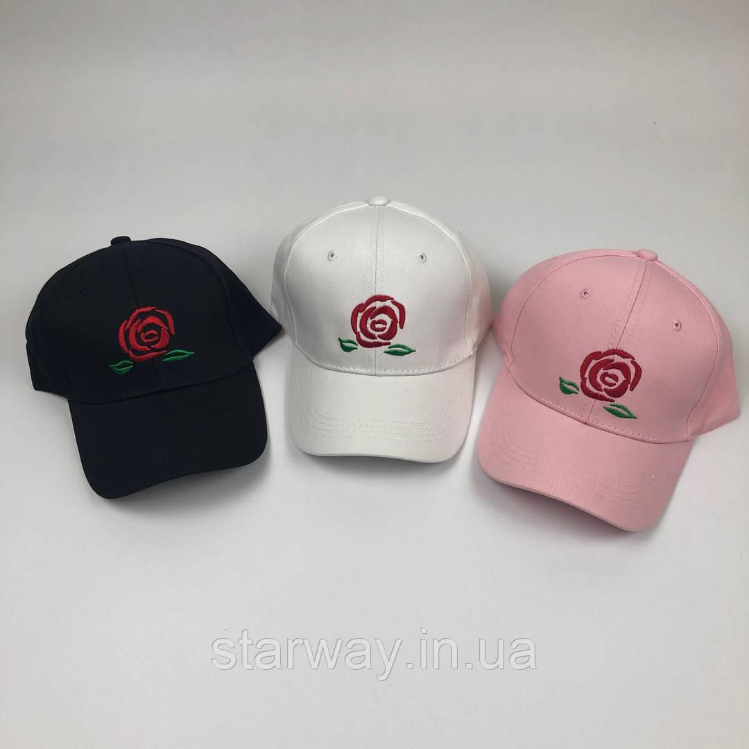Кепка стильная Big Rose логотип вышивка