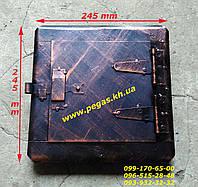 Дверка сажетруска, сажечистка (175х175 мм) печи, грубу, барбекю, мангал, фото 1