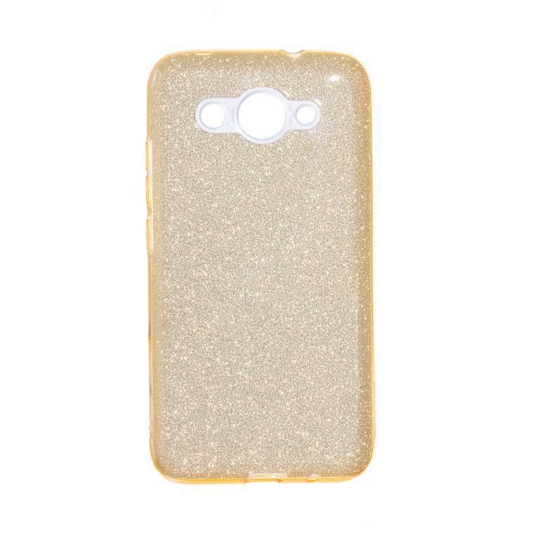 Чехол силиконовый Shine Huawei Y3 2017 Золотистый (31287)