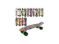 Скейт алюм. пені, підвіска, колеса ПУ, 8 кольор. арт. MS 0748-1