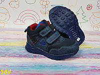 Детские спортивные ботинки хайтопы синие, фото 1