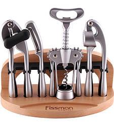 Набор аксессуаров Fissman ORTO 5 предметов на деревянной подставке (FN-GT-1504_psg)
