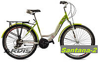 Женский городской велосипед зеленый с цветами Ardis Santana-2, фото 1