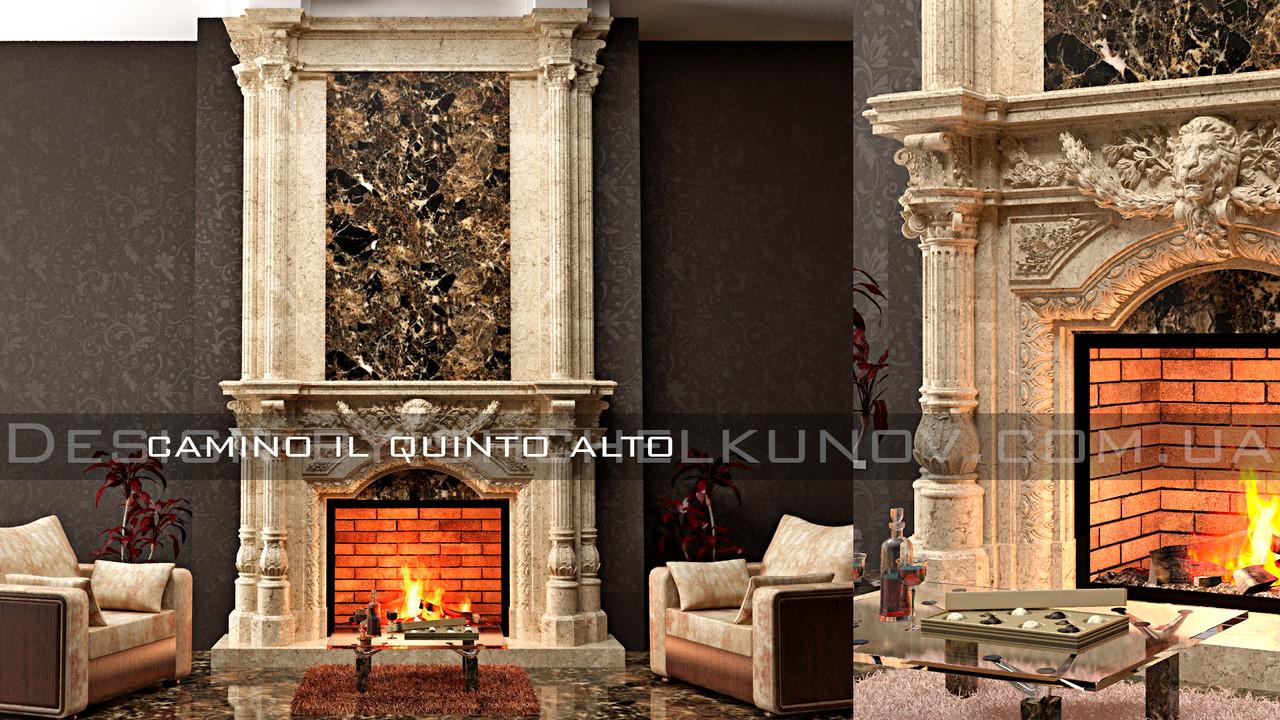 Мраморный портал камина Quinto Alto