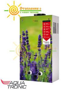 Колонка газовая дымоходная Aquatronic JSD20-AG108 10 л стекло (цветок)