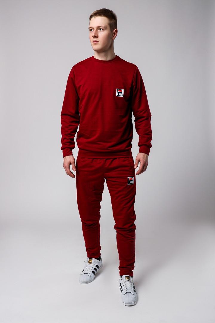Купить Весенние мужские костюмы FILA Фила красные (реплика) по ... 43e75de69cb37