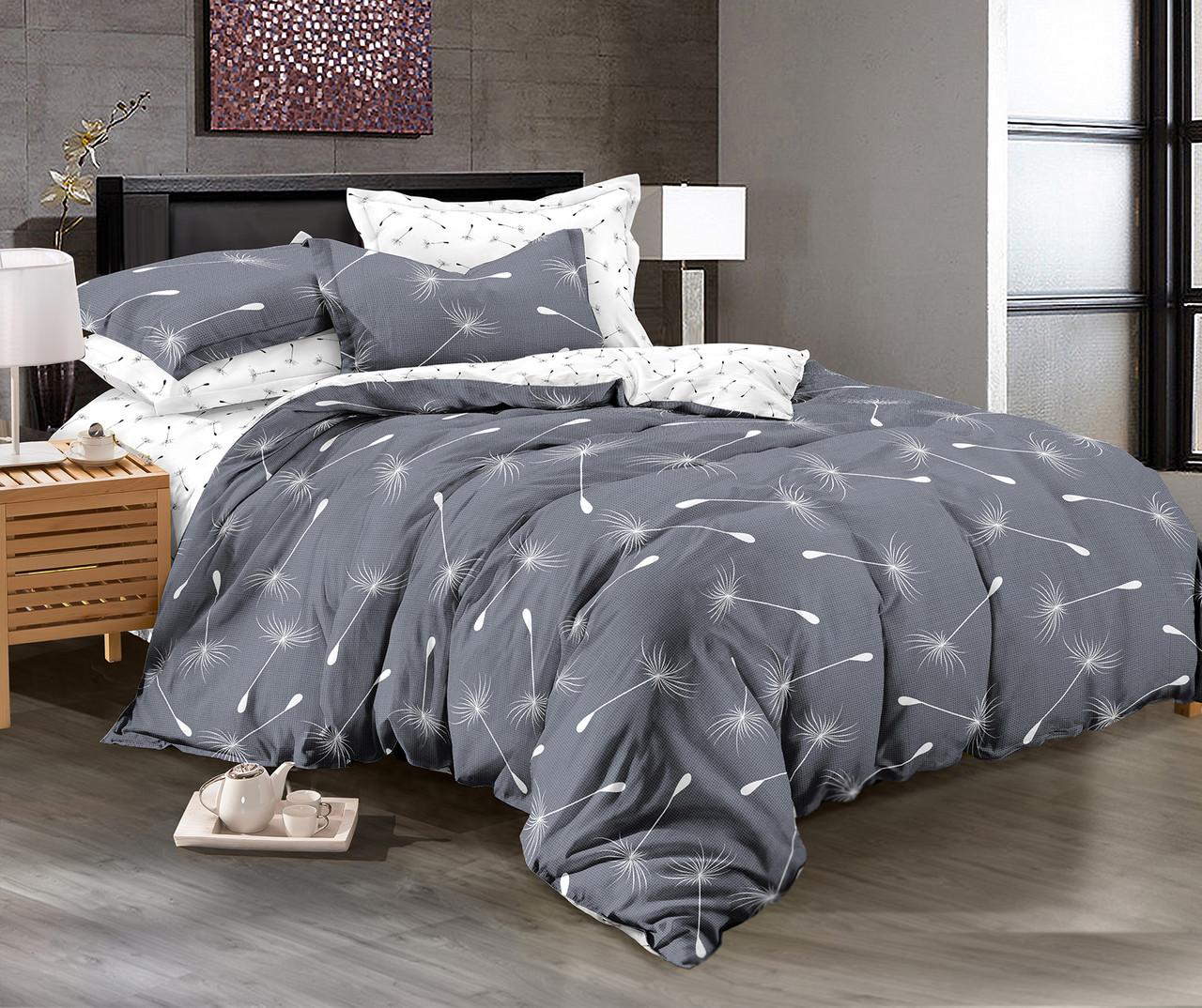 Двуспальный комплект постельного белья евро 200*220 сатин (11375) TM КРИСПОЛ Украина
