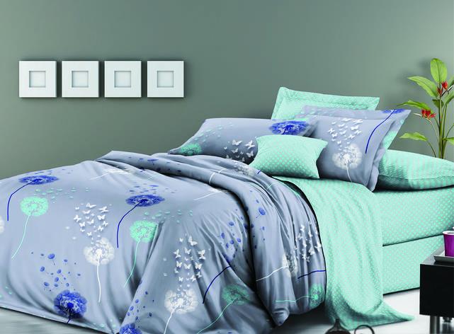 Двуспальный комплект постельного белья евро 200*220 сатин (11378) TM КРИСПОЛ Украина, фото 2