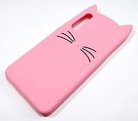 Чохол дитячий для Huawei P20 Pro силіконовий об'ємний іграшка вусики рожевий