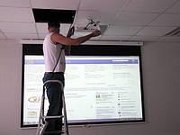 Установка, монтаж, подвес экрана, проектора в Одессе