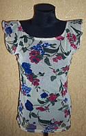 Легкая женская  кофточка с цветами