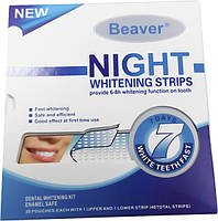 Полоски для отбеливания зубов Beaver Night Whitening Strips