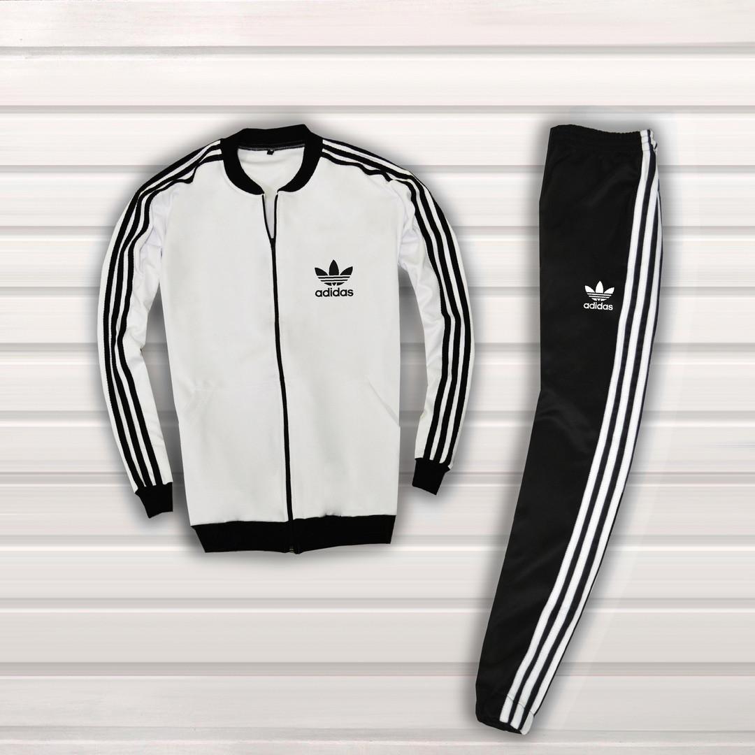 e8531702e91ff Мужской спортивный костюм Adidas. Адидас. Черно-белый цвет. Олимпийка +  штаны.