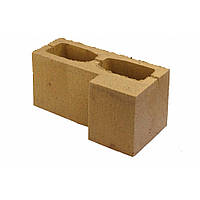 Блок заборный гладкий угловой Силта Брик 390*190*190, фото 1