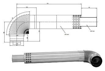 Турбированная газовая колонка Termaxi JSG-20R Turbo нержавейка, фото 2