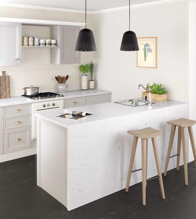 Кухонная Cтолешница искусственный камень Silestone Eternal Statuario - Photo