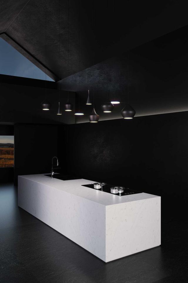 Кухонная Cтолешница искусственный кварцевый камень Silestone Eternal Statuario - Photo
