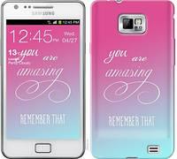 "Чехол на Samsung Galaxy S2 i9100 Памятка для девушек ""3701c-14-19913"""