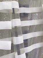 Фатиновая тюль в полоску  Белый