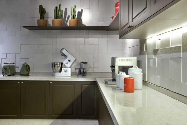 Кухонная Cтолешница искусственный камень Silestone Lagoon - Photo