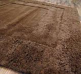 Купить однотонные шерстяные ковры шоколадного цвета, фото 2